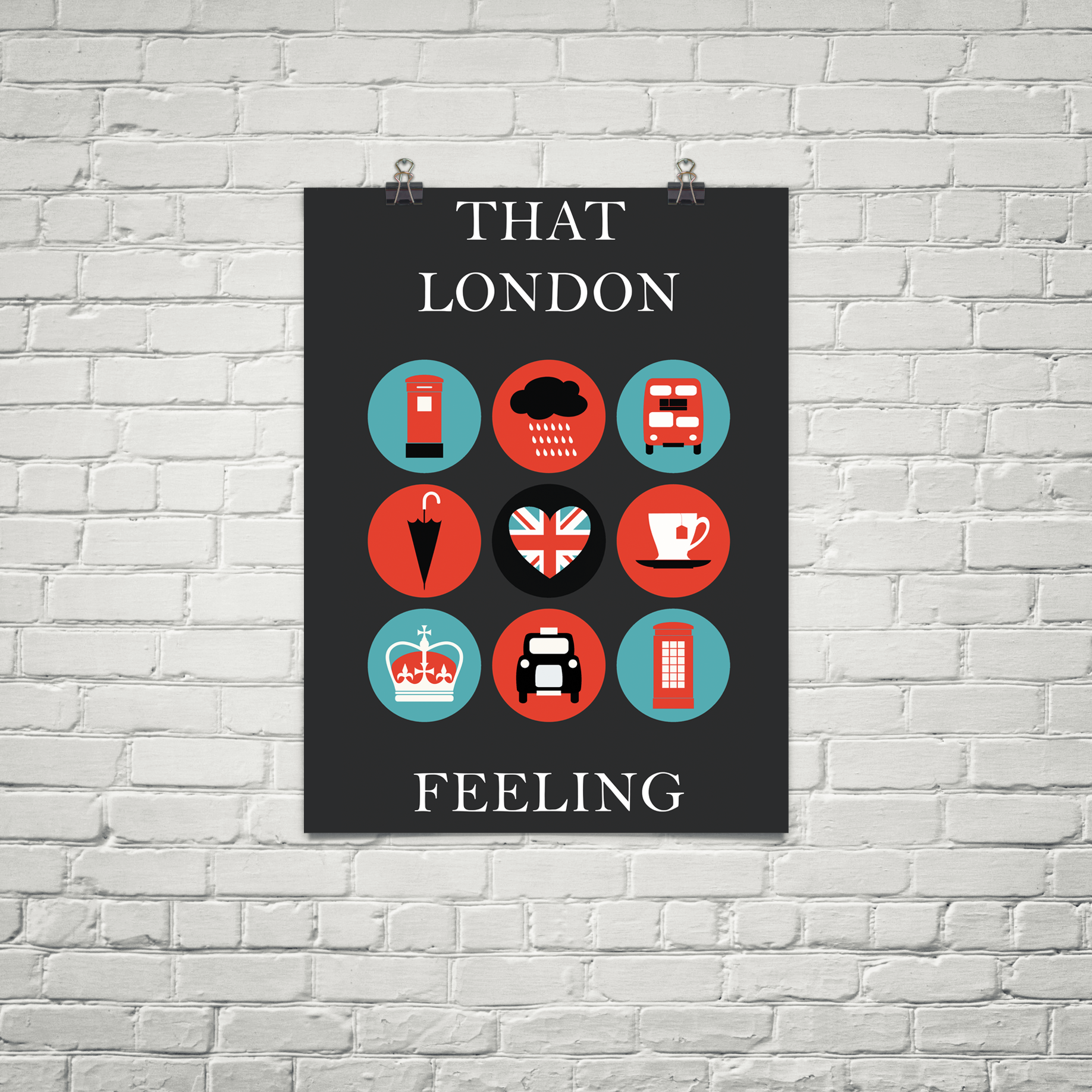 poster that london feeling available in mutliple sizes