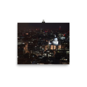 St Paul's Cathedral Night Limited Edition Print
