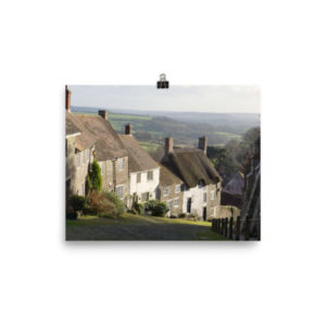 Gold Hill, Shaftesbury Dorset – Limited Edition Print