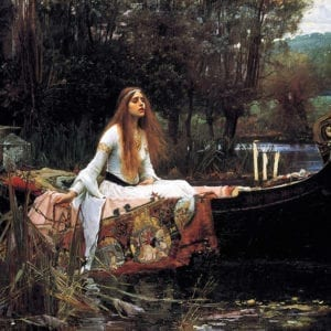 7EN-I1-015793   ORIGINAL:  John William Waterhouse (6 April 1849   10 February 1917) English Pre-Raphaelite painter The Lady of Shalott, based on The Lady of Shalott by Alfred Lord Tennyson.1888