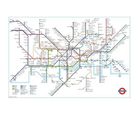 official london underground tube map poster
