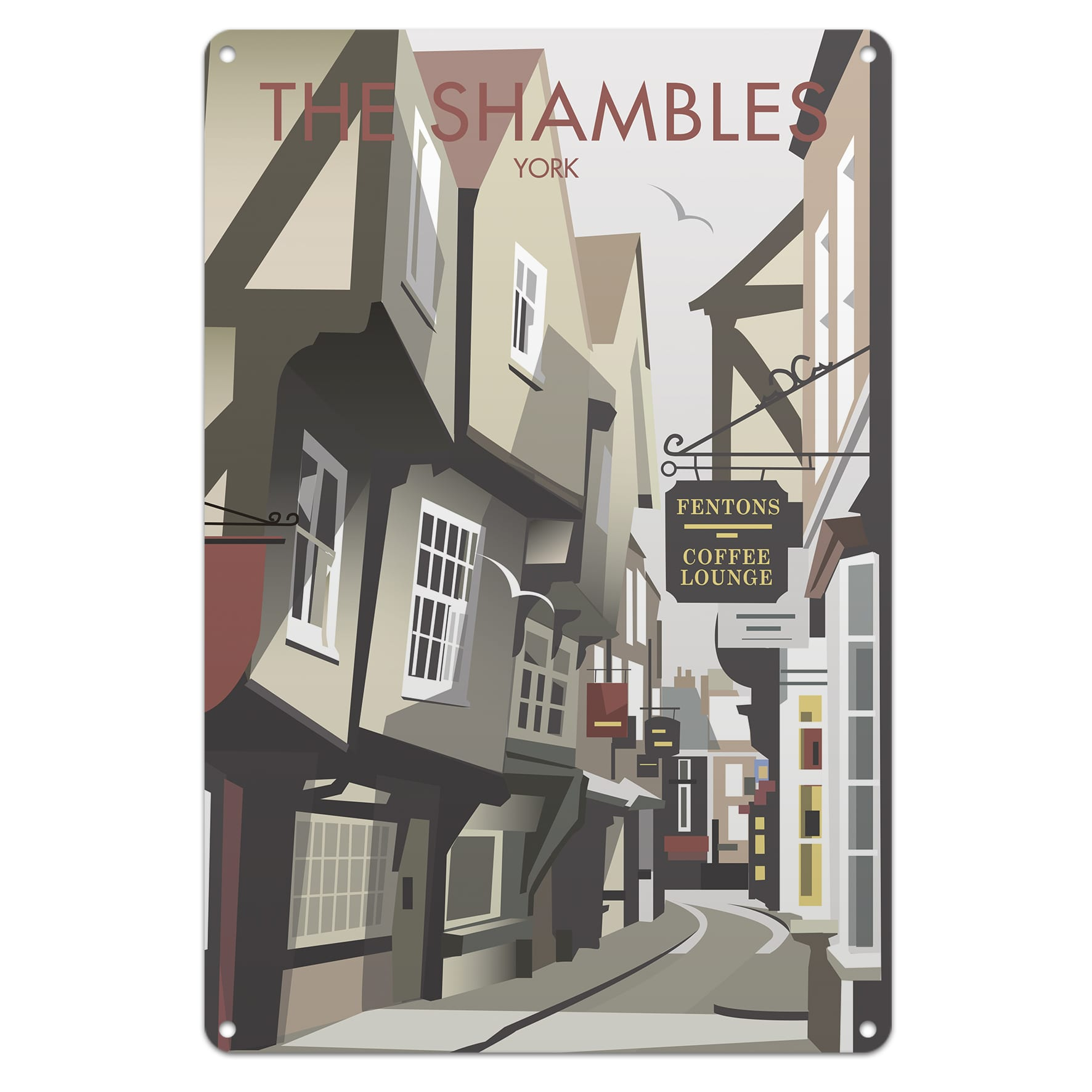 Top 100 most beautiful british slang words and phrases guide to dave thompson collection the shambles in york metal sign or tea towel shipping early december m4hsunfo